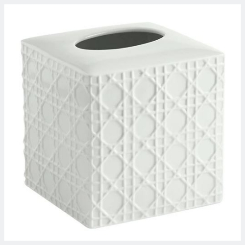 Rattan Tissue Holder White - Kassatex®