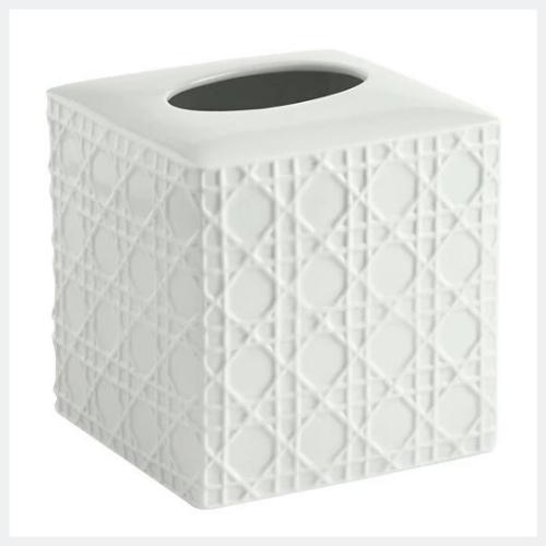 Rattan Tissue Holder White - Kassatex®