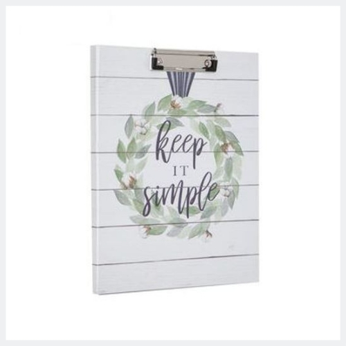 Keep It Simple Wreath Clipboard & Notepad