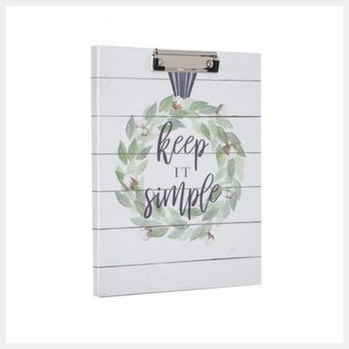Keep It Simple Wreath Clipboard & Notepad