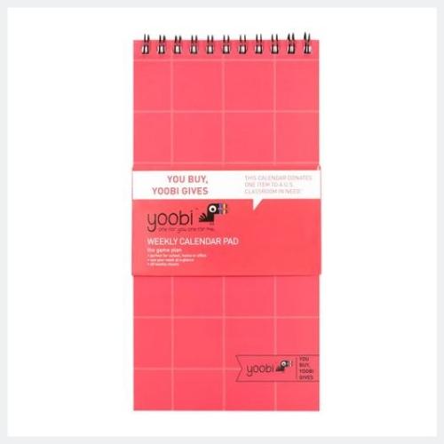 Undated Weekly Calendar Pad Coral Grid - Yoobi™