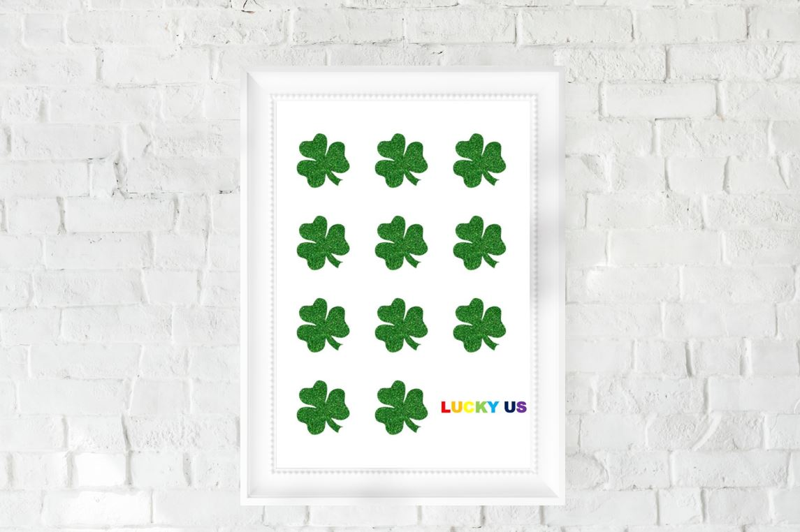 St. Patrick's Day Decor, Printable, Lucky Us