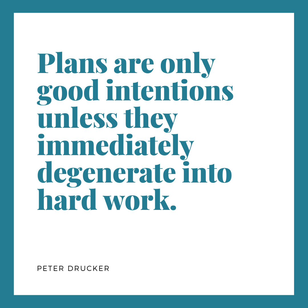 Quote about hard work by Peter Drucker
