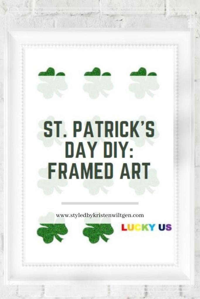 St Patrick's Day Framed Art Download