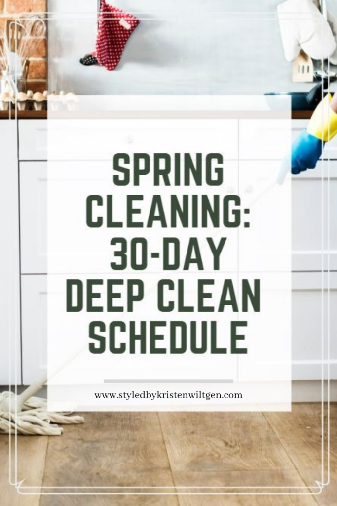 Spring Cleaning Deep Clean Schedule