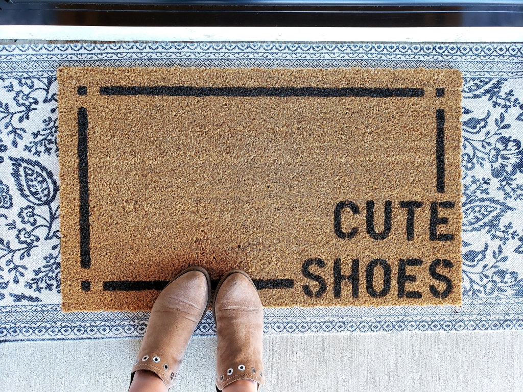 Spring DIY: Front Porch Doormat